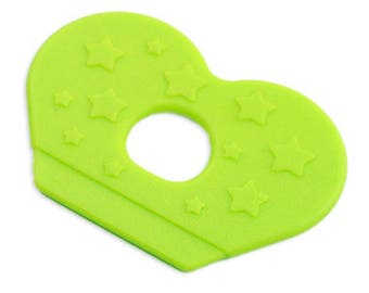 Fin teething sewing, lime green color