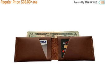 15% OFF Chocolate Brown Leather Slit Wallet Coin Money Purse For Men & Women - Accessories Collection