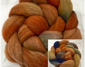 Hand dyed roving, Merino D'Arles, hand dyed wool top, fibre, spinning, Rare breed, Fiber, Felting materials,  spindling wool, felting fibre