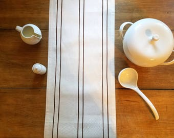 free shipping / farmhouse style grainsack table runner / grain sack / striped table runner / rustic / stripes / jennifer helene home