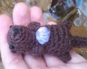 Bitty Otter - sea otter crochet otter amigurumi otter river otter ocean animals miniature otter water animals marine wildlife