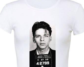Frank Sinatra's mugshot 1999 Women's Slim Fit T-Shirt