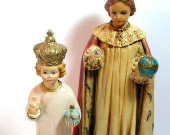 Infant Of Prague Chalkware Figurines