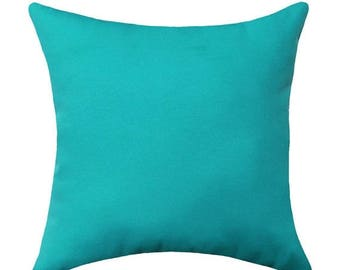 Turquoise Blue Outdoor Throw Pillow - Mill Creek Fresco Atlantis Blue Outdoor Decorative Pillow - Free Shipping