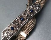 RESERVED for E ~ Middle Eastern Turkish Bracelet  . Sterling Silver . Vintage Egyptian Revival Jewelry