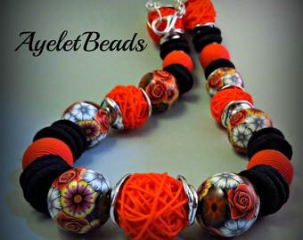Beautiful one of a kind necklace, created from ,15 beads and 20 disc beads all my handmade.
