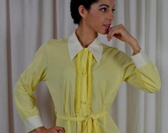 sale Disco Jumpsuit, Disco Costume, Bell Bottoms, 1970s Lingerie, Vintage Jumpsuit, 70s Costume, Yellow Pajamas, Disco Jumpsuit, 70s Pajamas