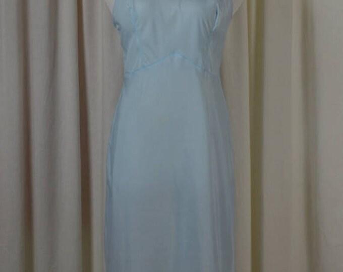 sale Vintage Slip, 50s Slip, Dress Slip, Slip Dress, 1950s Slip, Vintage Lingerie, Blue Slip, Size 36B