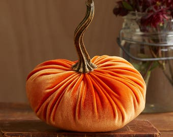Scented Velvet Pumpkin, ORANGE