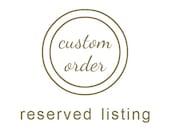Custom order for Christian