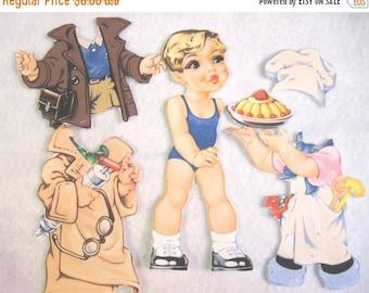 Summer Sale Children's Fabric paper Doll Cutie - Jimmy