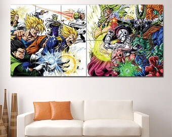 "Anime Heroes Villains Dragon Ball Z Photographic Paper Block Giant Wall Art Print Poster, Large Wall Décor Posters 33""x70"" By ZERES (P-1561)"