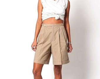 40% SUMMER SALE The Vintage Ralph Lauren Chino Khaki High Waisted Shorts