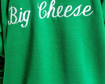 40% OFF CLEARANCE SALE The Vintage Knit Big Cheese Crewneck Sweatshirt