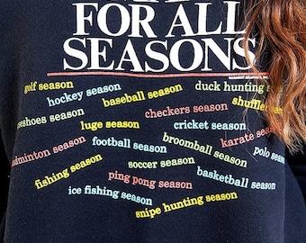 40% OFF The Vintage 50/50 A Man For All Season Black Crewneck Sweatshirt
