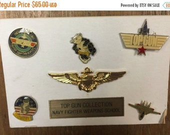 40% OFF The Vintage Enamel Top Gun Navy Fighter Pin Collection