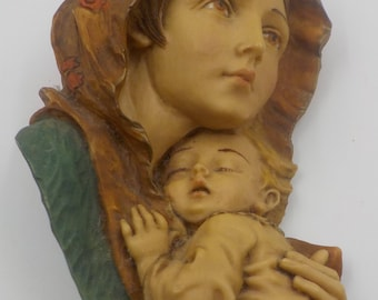 Stunning and Absolutely Beautiful - Mother and Baby-Mother and Child - Sculpture - Wall Sculpture - Wall Hanging - Made in Italy - RR Roman