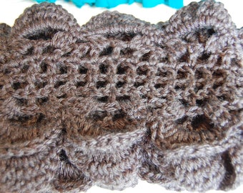 Beautiful Black Hand-Crocheted Scarf--Free Shipping!