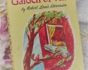 A Child's Garden of Verses by Robert Louis Stevenson  A Rainbow Classic  1946 poetry