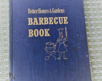 Better Homes and Gardens Barbecue Book Vintage cookbook 1956