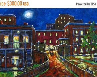 On Sale Balconville - Original Oil Painting created by Prankearts