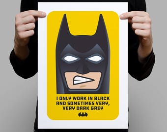 I Always Work in Black – A3 Artprint