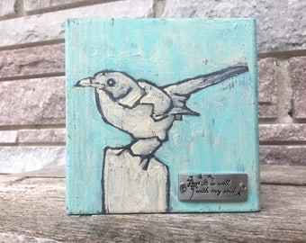 Reclaimed Wood Painting - It is Well With My Soul - Acrylic Painting