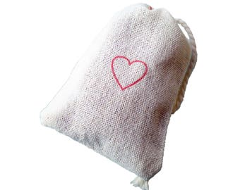Red Heart Sachet with Lavender shower favor wedding - shower - party
