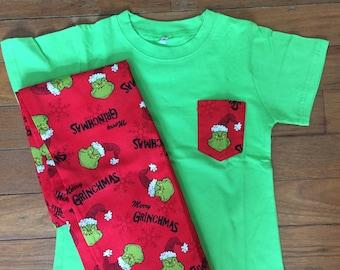 Kids Christmas PJ's - Grinch