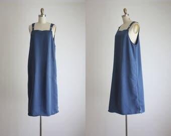 cobalt apron dress