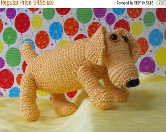 40% OFF SALE Instant Digital File pdf download knitting pattern-MADMONKEYKNITS- Nursery Toy Sammy Sausage Dog pdf download knitting pattern