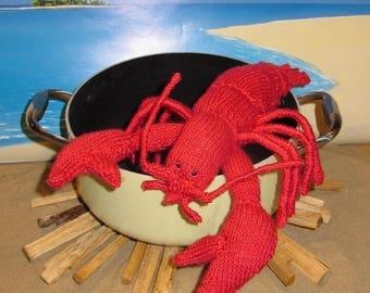 40% OFF SALE madmonkeyknits Lottie Lobster Crustacean Toy pdf knitting pattern