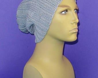 40% OFF SALE Digital pdf download knitting patten -  Rib Pattern Super Slouch Hat pdf knitting pattern
