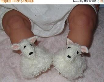 40% OFF SALE Digital pdf file knitting pattern -madmonkeyknits Baby Sheep Shoes pdf download knitting pattern