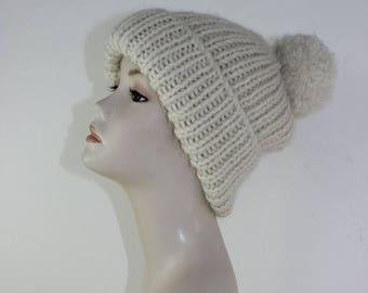 40% OFF SALE madmonkeyknits - Super Chunky Rib Bobble Beanie CIRCULAR knitting pattern pdf download - Instant Digital File pdf knitting patt