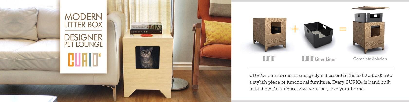 Modern Litter Box Cat Furniture Pet House By CURIOSF