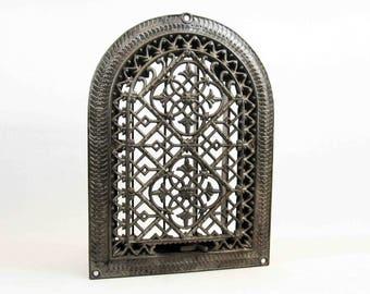 Antique Victorian Heating Vent / Register Grate. Cast Iron. Circa 1800's.