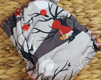 Through the Woods - One Size (11-35#) Hidden PUL w/Bamboo/OBV Soaker Fitted Cloth Diaper