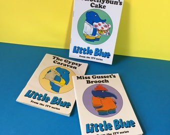 Little Blue - Vintage Books - Little Blue Elephant - Childrens TV Series - 1970s - 1980s - ITV Series