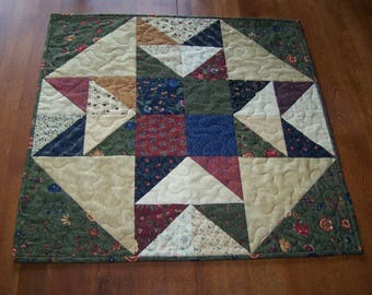 Quilted Table Runner, Double Ohio Star, Square