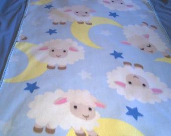 sheep moon stars baby blanket