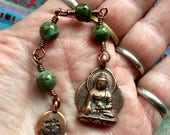 The Loving Kindness Mala in Copper and Copper Jasper. A fundraiser for Alzheimer Research