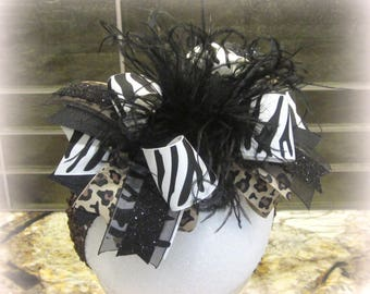 Zebra Over the Top Bow, Leopard OTT hairbow, Leopard Hair Bow, Zebra Headband, Baby Headband, Girls Big Bows, m2mg, m2m, animal Print Bows