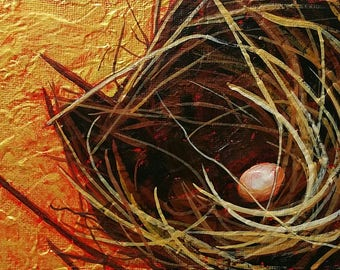 Daily Painting - Bird Nest Painting