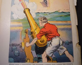 Peter has a Cannon  Pirates of Oz John R Neill illustrator print - Wizard of Oz L Frank Baum color print  - 1931 - Nursery framable