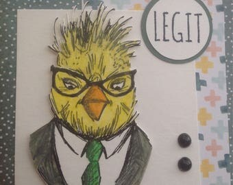Hipster Bird Card