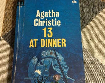 Vintage 1965 Agatha Christie 13 At Dinner Paperback Book