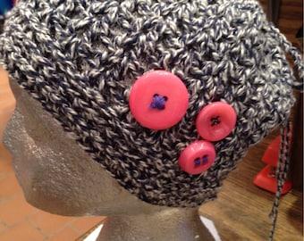Crochet Messy Bun/ Ponytail Hat / Topknot Hat / Messy Bun Toque / Women's Hat/ Children's Hat / Winter Hat