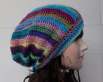 Crochet slouch Womens hat Knitted womens hat Crochet womens beanie Womens knit hat Winter hat crochet hats knit hats Crochet Slouchy hat