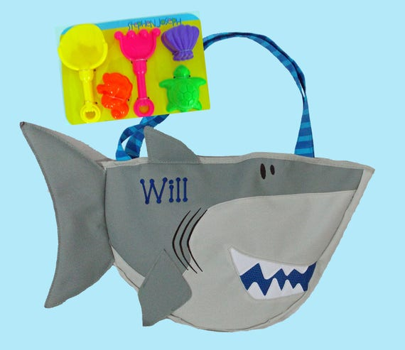 Child's Stephen Joseph SHARK Beach Tote/Beach Bag